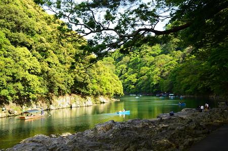 初夏の保津川