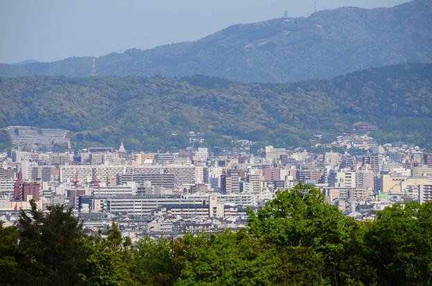 写真: 中央に清水の塔