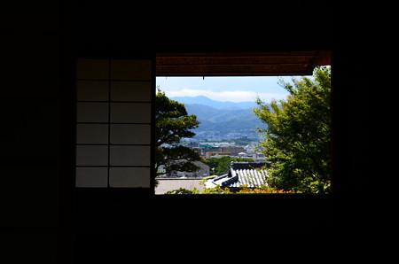 芭蕉庵越しの風景