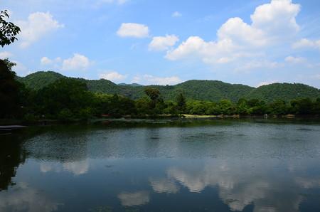 夏空の大沢の池