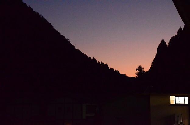 鞍馬駅から見る夕景
