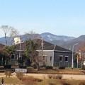 写真: うっすらと雪の愛宕山