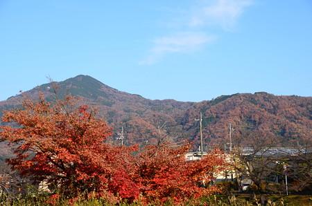 高野川沿いから見た比叡山
