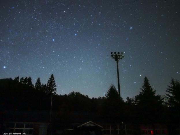 星が一杯、忘れられた廃校の夜