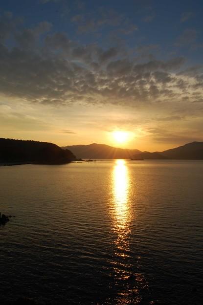 敦賀湾の夕日