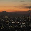 富士とスカイツリー