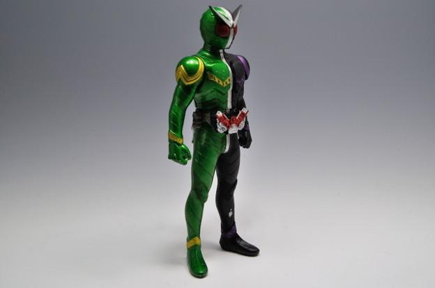 バンダイ_仮面ライダーW ライダーヒーローシリーズW01 仮面ライダーW サイクロンジョーカー_005