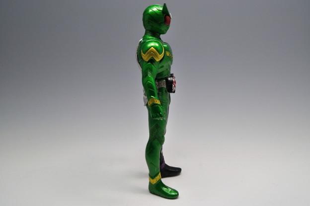 バンダイ_仮面ライダーW ライダーヒーローシリーズW01 仮面ライダーW サイクロンジョーカー_004