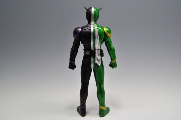 バンダイ_仮面ライダーW ライダーヒーローシリーズW01 仮面ライダーW サイクロンジョーカー_002