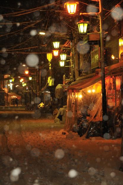写真: 雪飲み