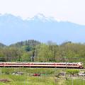 Photos: 八ヶ岳と中央線189系臨時特急あずさ79号