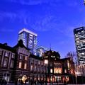 薄暮の東京駅
