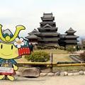 アルプちゃんと松本城