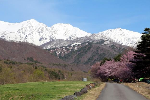 白馬三山と松川公園