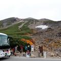 写真: 大雪渓肩の小屋口バス下車