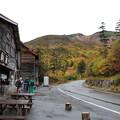 写真: 位ヶ原山荘前バス停