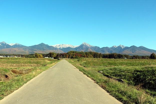 御柱街道の八ヶ岳連峰