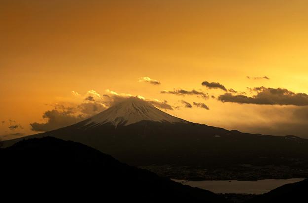 御坂峠の夕焼け