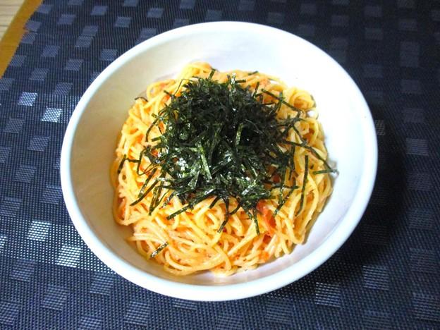 辛子明太子とウニのスパゲッティ