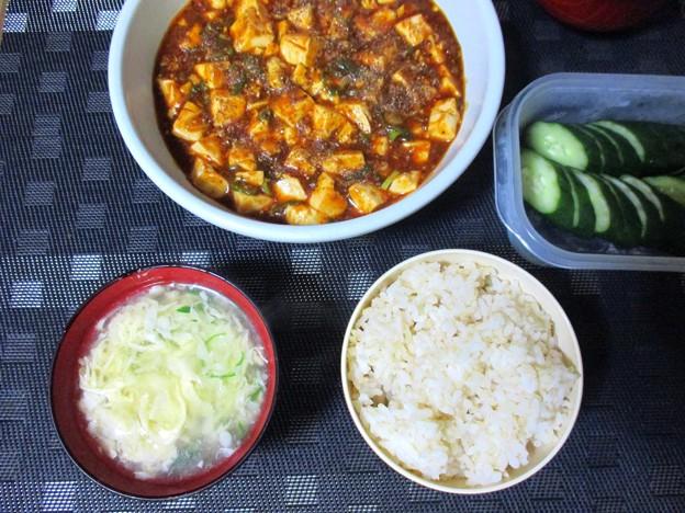 麻婆豆腐定食風