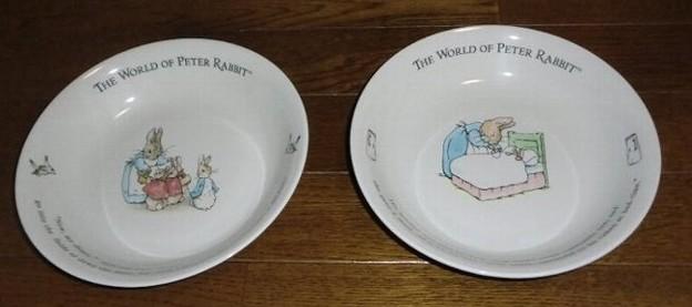ダイエー パスタカレー皿2枚(ファミリー&ミセスラビット)