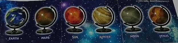 カプセルde地球儀 ver.Planet
