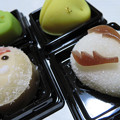 写真: 和菓子でサンタ。