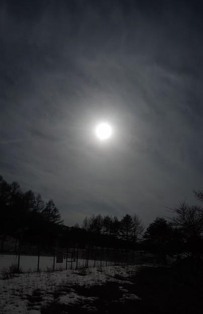 今月最後の日暈