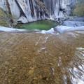 噴水滝 下段落ち口