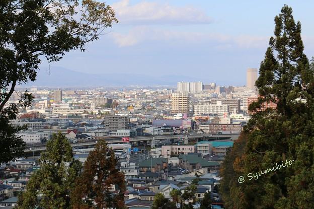二の丸から山形市街地を望む