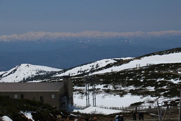 蔵王山頂から望む