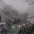 写真: 庄川雪景色