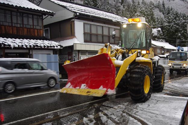 除雪車出動