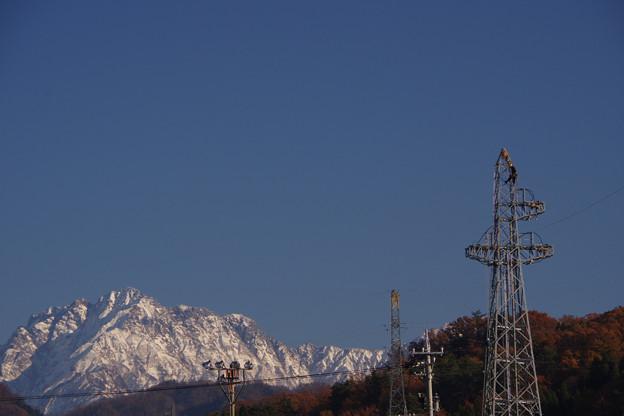 鉄塔作業と剱岳