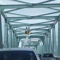 橋の雪落とし渋滞