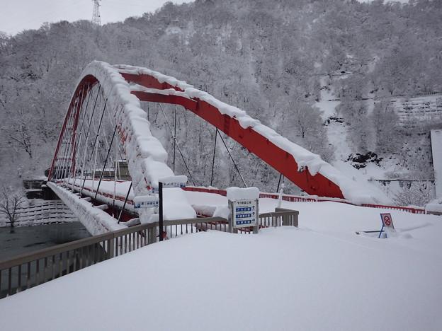 Photos: 冬季閉鎖の湖面橋