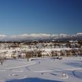 写真: 川の駅から立山連峰