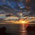 写真: 三崎公園より望む夕景・・・