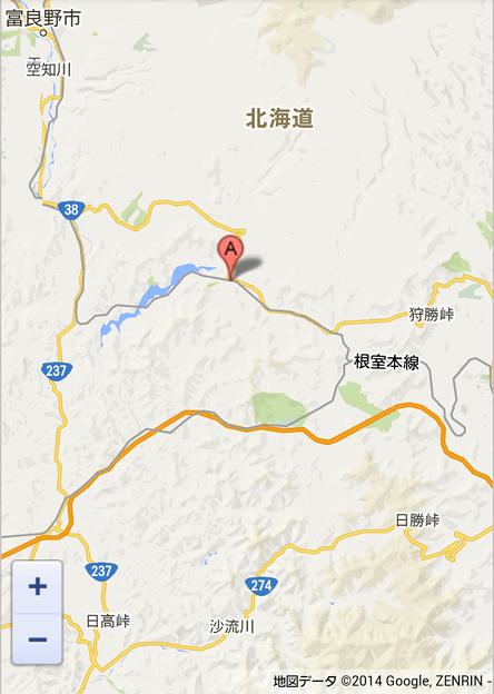 幾寅駅(いくとらえき)位置図(A)