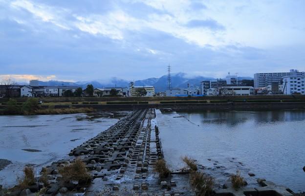 鏡川ブロック堰