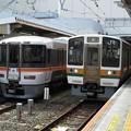 373系と213系