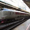 写真: 31分遅れで東京駅に到着したサンライズ
