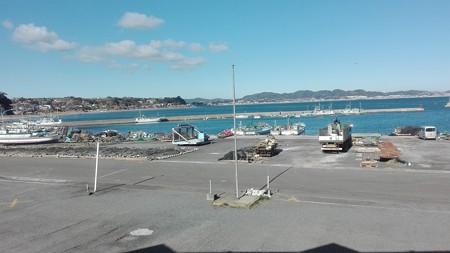 レストランからの眺め@金田漁港