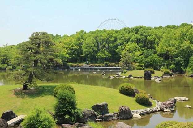 心字池の庭園