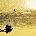 写真: 輝く水面