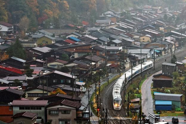 秋雨の宿場町