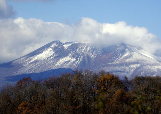 写真: 輝く浅間山