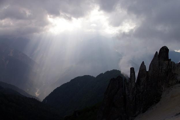 写真: 燕岳にて -1