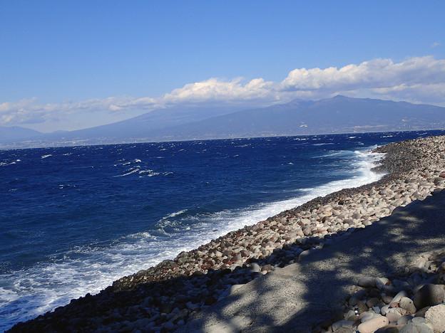 荒れ荒れの大瀬崎外海