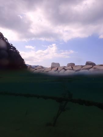 平沢の海の半水面やったよ!